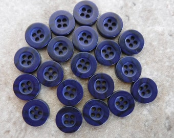 10 NEW 1 1//2 INCH POWDER BLUE DULL//MATTE FINISH BUTTONS