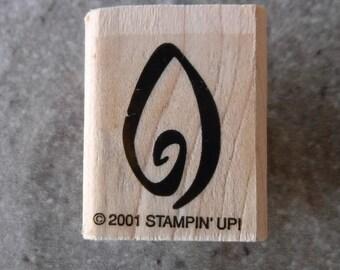 Stampin Up Leaf Single Stamp #C74