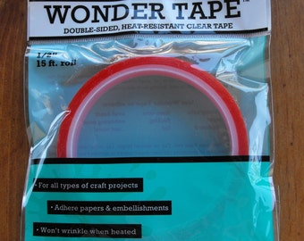 """Ranger Wonder Tape Double Sided, Heat Resistand Clear Tape 15 Ft. 1/2"""""""