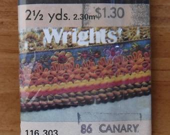Wrights Canary Yellow Maxi Piping