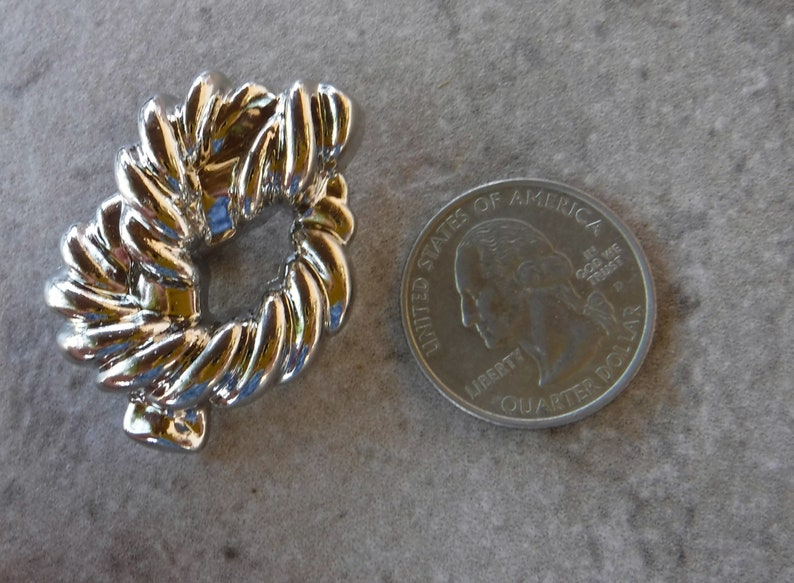 6 Silver Tied Knot Large Shank Buttons Size 1 12