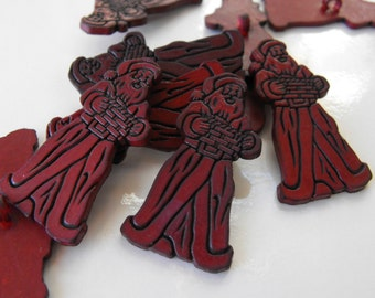 16 Burgundy St Nick Shank Buttons