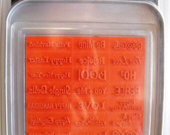 Making Memories Magnetic Stamp Sayings - Holidays - Stamp Set