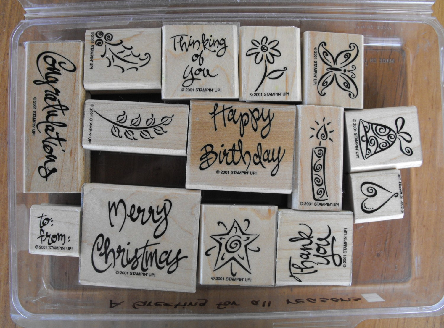 Stampin Up Stamp Set A Greeting For All Reasons Set 68 Etsy