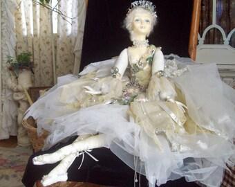 vintage Wayne Kleski doll vintage porcelain doll lady doll boudoir doll