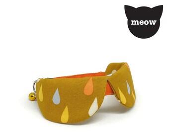 GOOOD Cat Collar | Dapper Round - Monsoon | 100% Multi Colours Cotton Fabric | Safety Breakaway Buckle