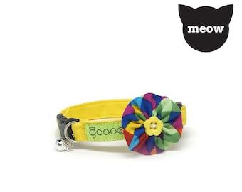 GOOOD Cat Collar | Bloomie - Classic Artist | 100% Pattern Cotton Fabric | Safety Breakaway Buckle