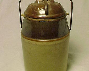 c1890s The Weir Pat. March 1st 1892, Pint size Stoneware Fruit Jar, Canning Jar, Country Primitive Kitchen Decor