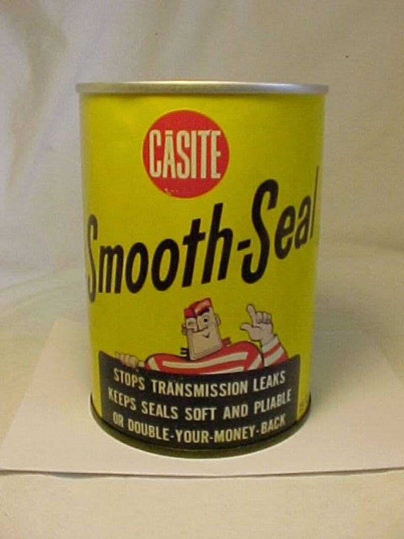 Vintage Casite Smooth Seal Hastings Manufacturing Co  Hastings, Michigan  ,Vintage Advertising Gas Station Tin Can, Man Cave Garage Decor
