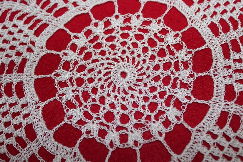 White 16 inch New Crocheted Doily