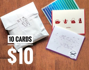 SALE - Grab Bag (10 Assorted Cards)