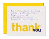 Limerick Thank You Support Card