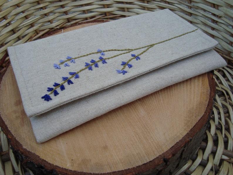 blue clutch yellow clutch lavender clutch linen clutch Rustic embroidery clutch,wheat clutch Queen Anne/'s Lace  clutch green clutch