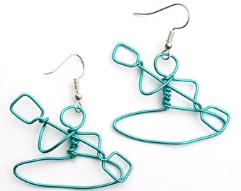 Northern Lights Canoe /& Paddle Wire Earrings