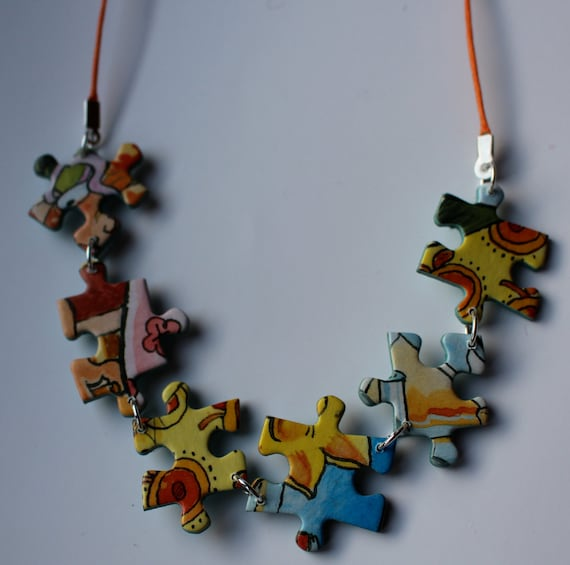 Upcycled Jigsaw Puzzle Jewellery