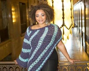 One Sleeve Poncho Crochet Pattern