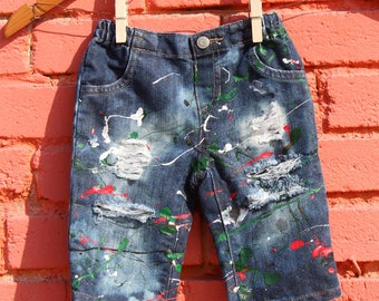 Baby Skinny Jeans 3-6 Months Ripped Jeans Distressed Denim Trendy Baby Clothes Distressed Jeans Infant Jeans Toddler Jeans Skinny Jeans