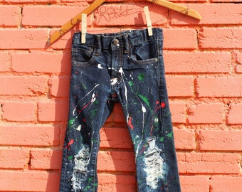 Girls Ripped Jeans 5 Girls Jeans Trendy Kids Clothes Distressed Jeans Punk Rock Girl Toddler Jeans Baby Girl Jeans Punk Rock Kids