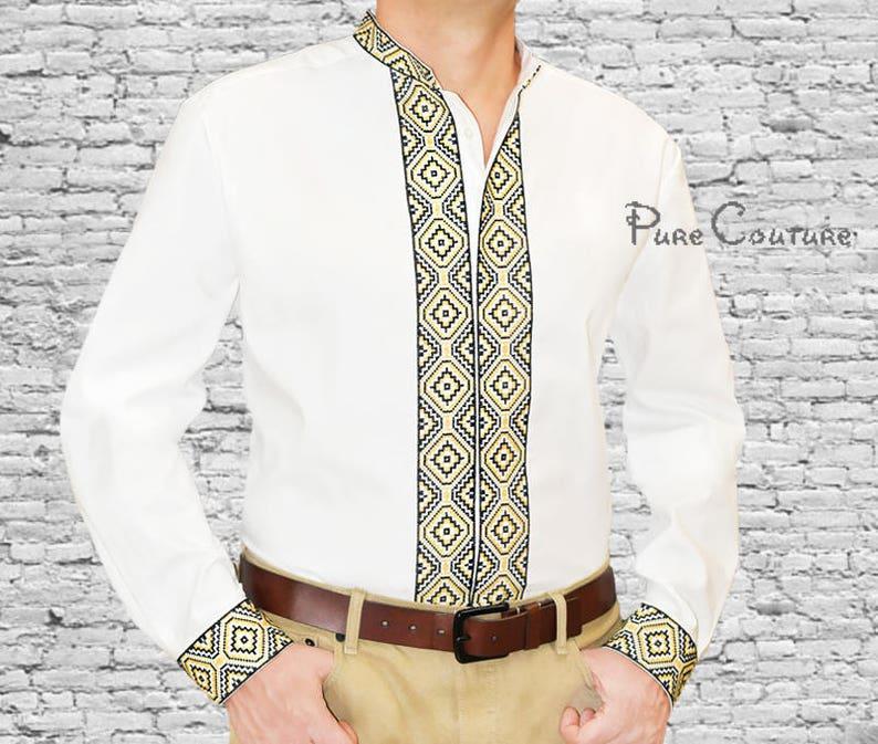 03e19acd Customized shirt Cotton shirt Mens designer shirts Long sleeve | Etsy