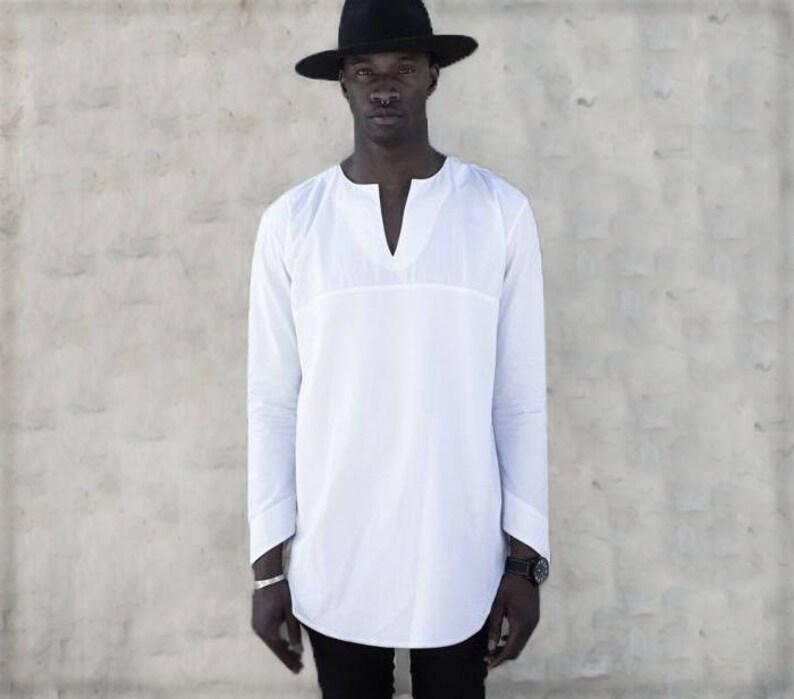 a1e6f87f1 LINEN SHIRT MAN Linen tunic shirt White linen man kaftan   Etsy