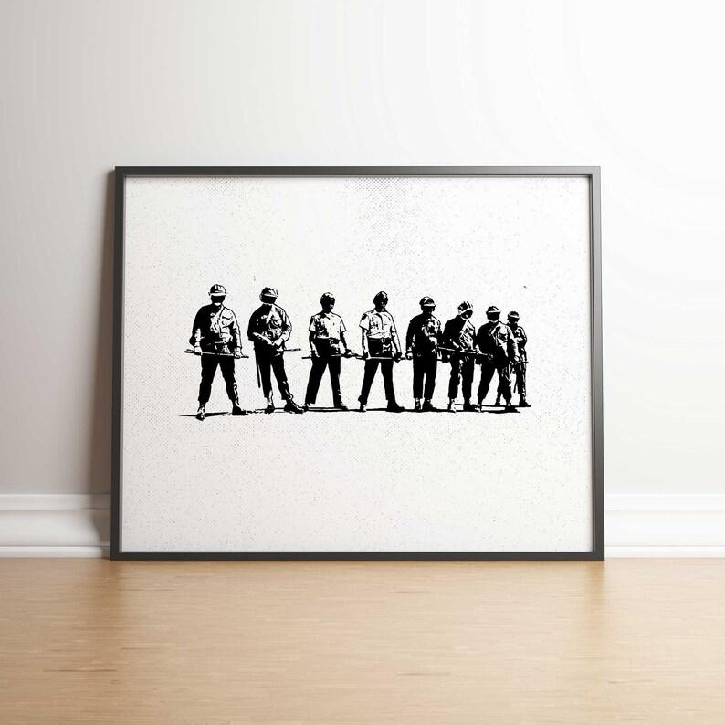 Riot Squad Instant Art Print 5 JPGs Digital Printable Banksy image 0