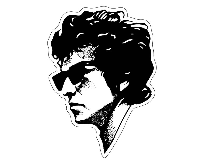 Bob Dylan Die-Cut Vinyl Sticker Durable Waterproof UV Laptop image 0