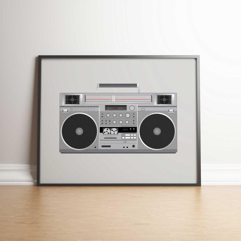 Ghettoblaster Beastie Boys LL Cool J Art Print 5 JPGs Instant image 0