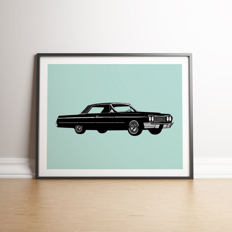 1964 Chevy Impala Instant Download Print Kustom Kulture Hot image 0