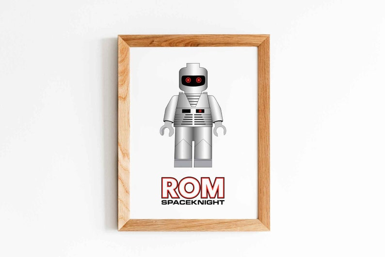 Lego ROM Spaceknight Variant Art Print Five JPEGs Instant image 0