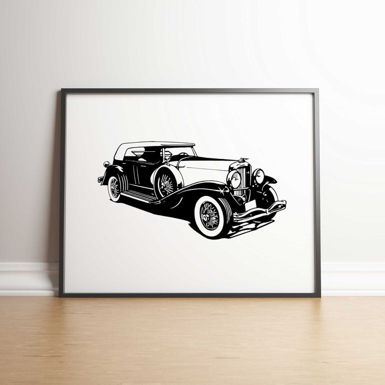 Duesenberg Motors Car Art Print 5 JPGs Digital Download image 0