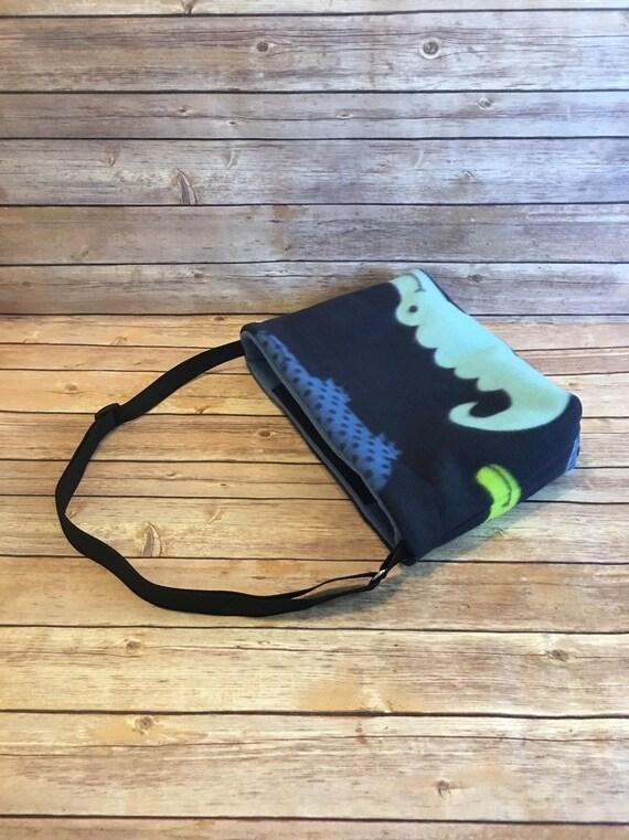 Guinea Pig or Ferret Fleece Sling Carrier Bonding Bag with Adjustable Strap and Closure