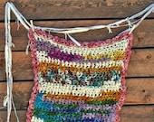 Bulky Baby Toddler Newborn Blanket Crochet Warm Wool by Yospun Handspun Yarn, Soft, Chunky Boho Baby Blanket