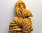 Handspun, Hand dyed, Yarn, Yellow, Gold, Thick and Thin,Big, Bulky, Wool, Yarn, Yospun, Knitting, Crochet