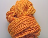 Handdyed, Hand dyed, Yarn, Rusty, Gold, Orange, Thick and Thin, Worsted Weight, Wool, Yarn, Yospun, Knitting, Crochet