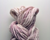Handspun, Hand dyed, Yarn, Barely Mauve, Thick and Thin, Big, Bulky, Wool, Yarn, Yospun, Knitting, Crochet
