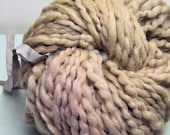 Handdyed, Hand dyed, Yarn, Tan, Rusty Red, Blush, Beige, Boucle, Thick and Thin, Worsted Weight, Wool, Yarn, Yospun, Knitting, Crochet