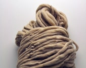 Handspun, Hand dyed, Yarn, Beige, Natural, Tan, Thick and Thin, Big, Bulky, Wool, Yarn, Yospun, Knitting, Crochet