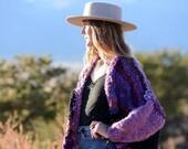 Handknit Bulky Cardigan, Big Sweater, warm, soft, Wool, knit sweater, Handmade, USA, Over sized Sweater