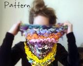 """Knitting Pattern """"Color Devout"""" for Bulky Knit Cowl Yospun Big Cowl"""