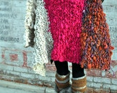 "The ""Warm Mommy"" Knitting Pattern by Yospun Chunky Throw Wrap Baby Blanket Big Needle Knitting"