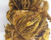Yarn, Hand Spun, Hand Dyed, Wool, Curly, Big, Bulky, Textured, Wild, Chunky, Art Yarn, Thick and Thin, Knitting Supplies, Weaving Supplies