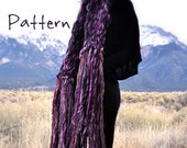"Knitting Pattern ""Carousel"" for Big Wide Bulky Long Fringe Scarf By Yospun"