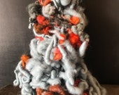 Hand spun art yarn, bulky, big, chunky yarn, knitting supplies, weaving supplies, thick and thin, jumbo yarn