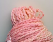 Handdyed, Hand dyed, Yarn, Pink, Boucle, Thick and Thin, Worsted Weight, Wool, Yarn, Yospun, Knitting, Crochet