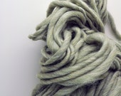 Handspun, Hand dyed, Yarn, Sage Green, Light Green, Thick and Thin, Big, Bulky, Wool, Yarn, Yospun, Knitting, Crochet