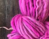 Hand spun, bulky, yarn, soft, wool, hand dyed, knitting, crochet, weaving, fiber arts, big yarn, yospun, earthy color, art yarn, 120 yards