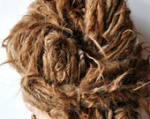 Bulky Art Yarn Rusty Natural Brown Wispy Alpaca super bulky silky soft knitting crochet supplies