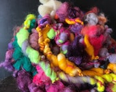 Hand spun yarn, bulky, art yarn, chunky, knitting supplies, weaving supplies, thick and thin, jumbo yarn