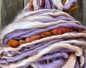 Handspun yarn, bulky, soft, wool, knitting supplies, weaving, crochet, yospun, 80 yards, art yarn