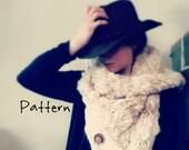 Knitting Pattern Bulky Cowl Button Bulky Yarn Yospun Bandanna